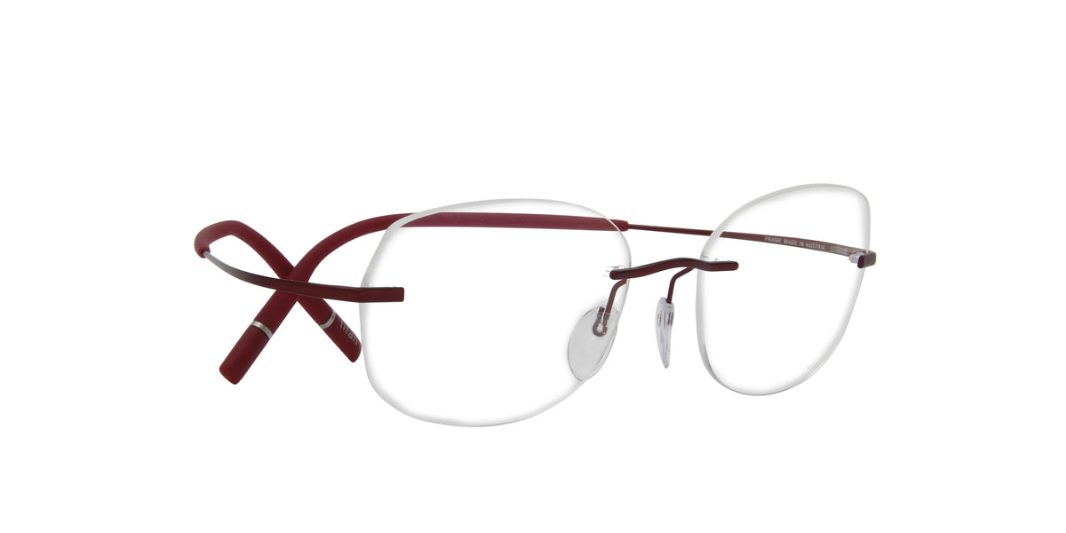 Silhouette - TMA The Icon Carnelian Red Rimless Unisex Eyeglasses - 51mm