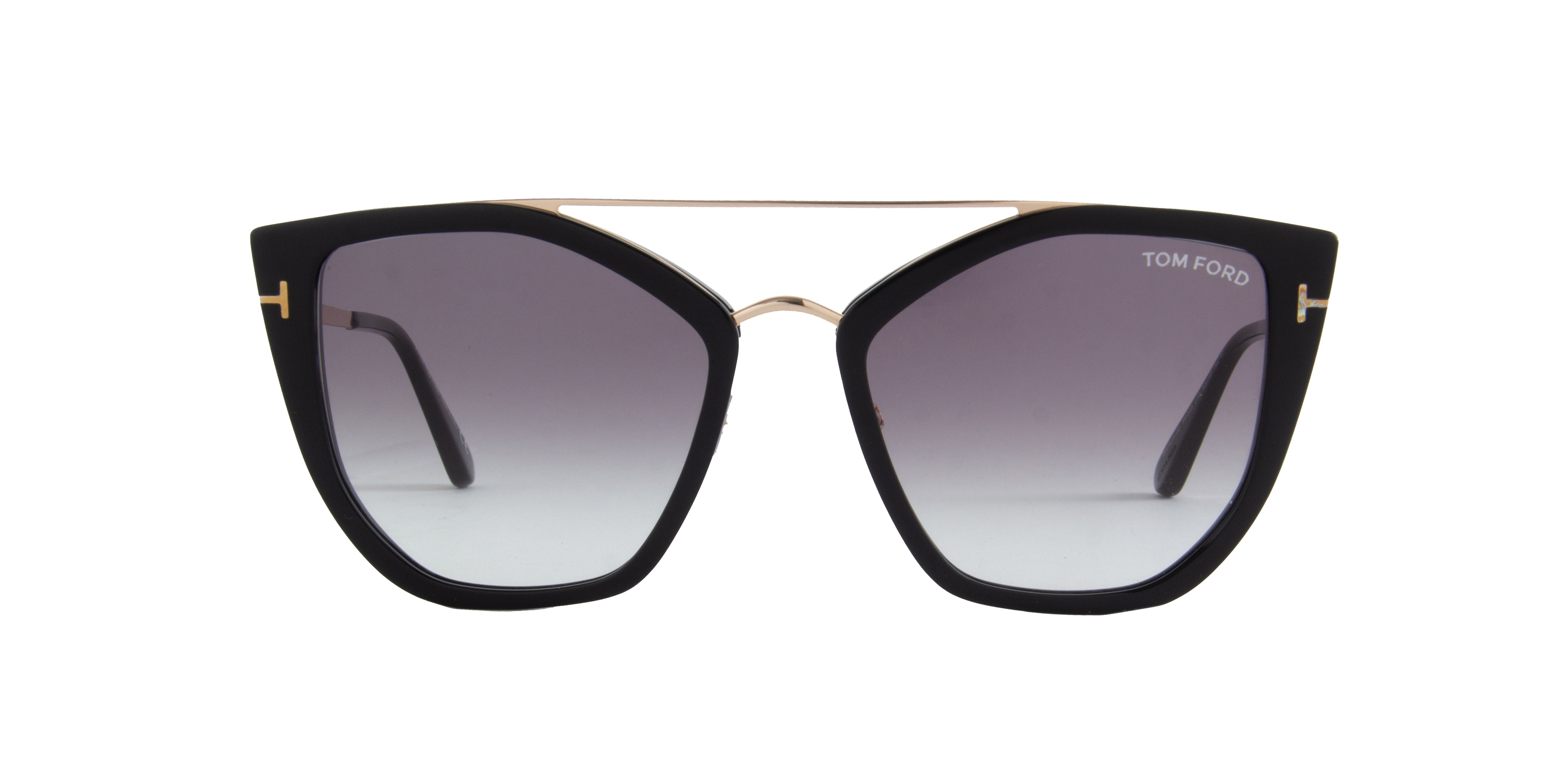 Tom Ford - FT0648 Shiny Black Cat Eye Women Sunglasses - 55mm