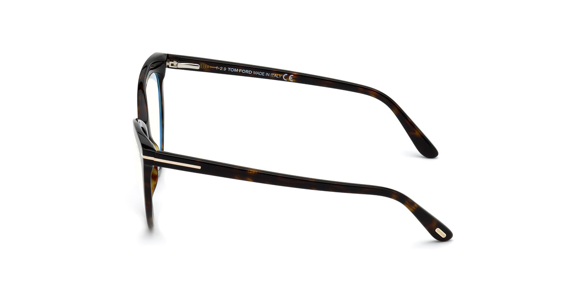 Tom Ford - FT5674-B Dark Havana/Clear Cat Eye Women Eyeglasses - 54mm