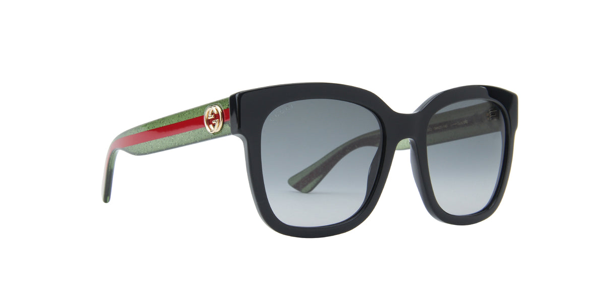 Gucci - GG0034S Black Rectangular Women Sunglasses - 54mm