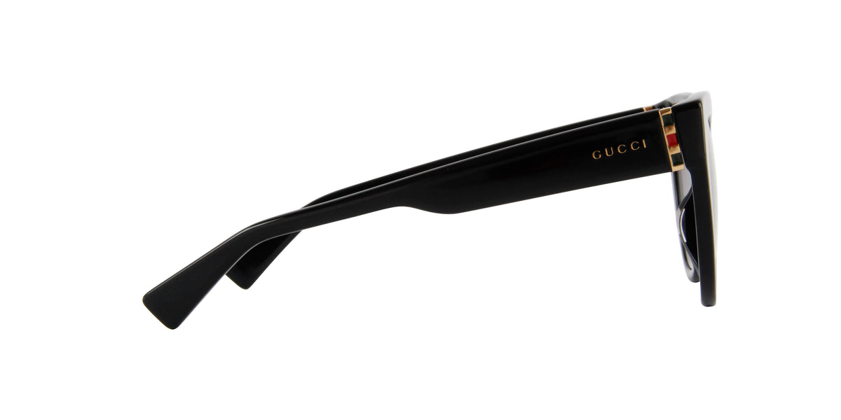 Gucci - GG0460S Black/Gold Cat Eye Women Sunglasses - 53mm