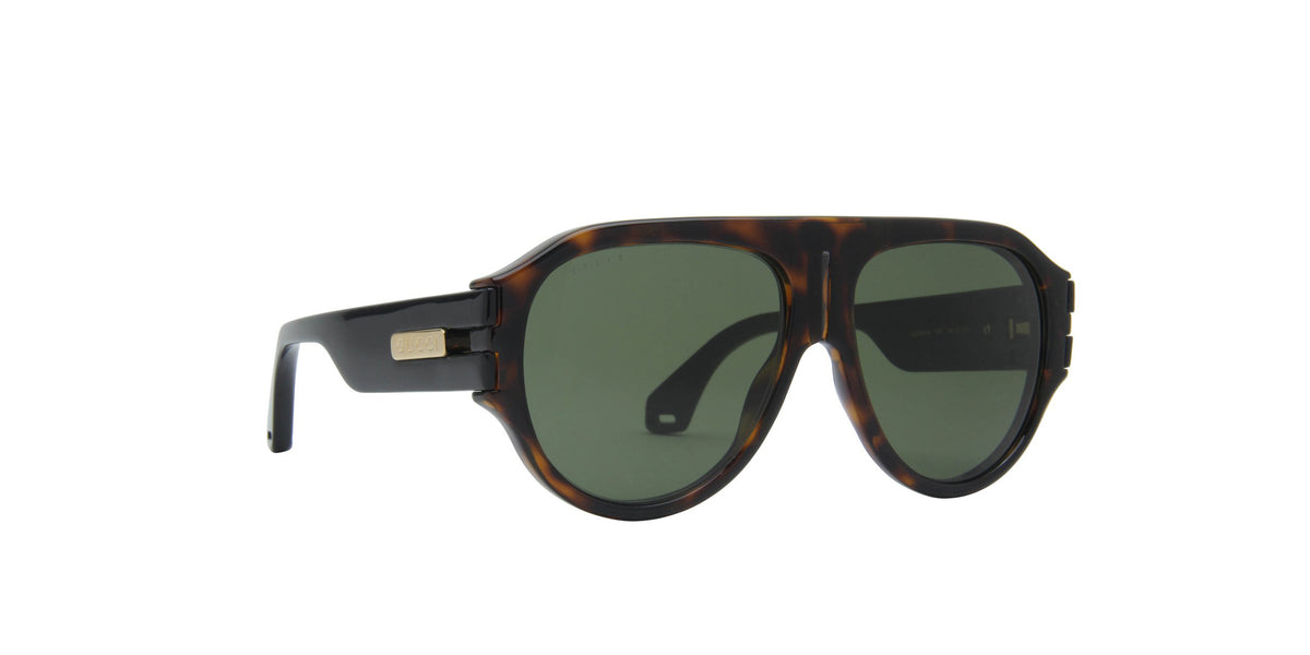 Gucci - GG0665S Havana/Green Round Men Sunglasses - 58mm