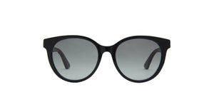 Gucci - GG0702SK Black/Grey Round Women Sunglasses - 54mm
