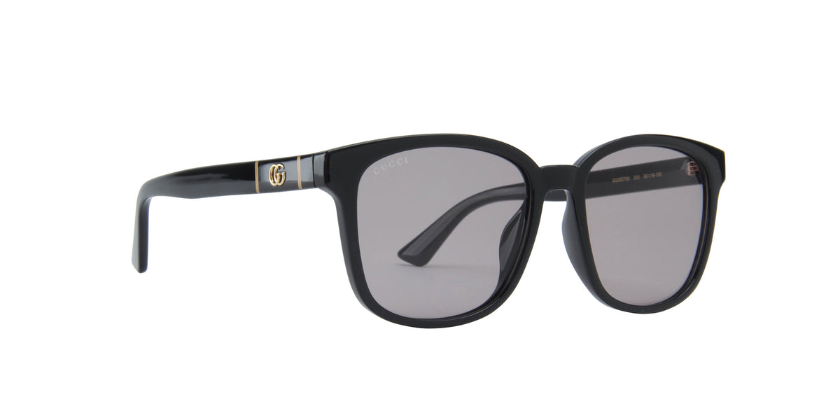 Gucci - GG0637SK Black/Grey Square Men Sunglasses - 56mm