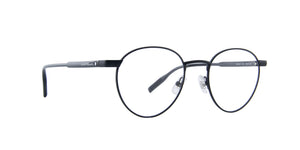 Montblanc - MB0115O Semi Matte Black Round Men Eyeglasses - 51mm