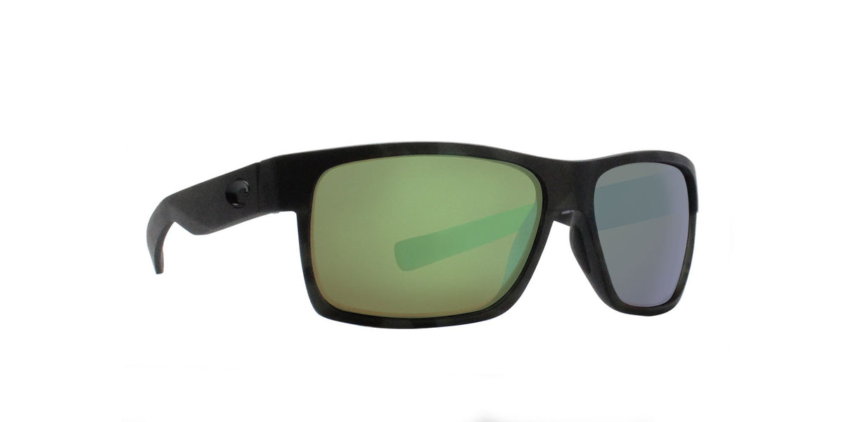 Costa Del Mar - Half Moon Tiger Shark/Green Mirror Polarized Rectangular Men Sunglasses