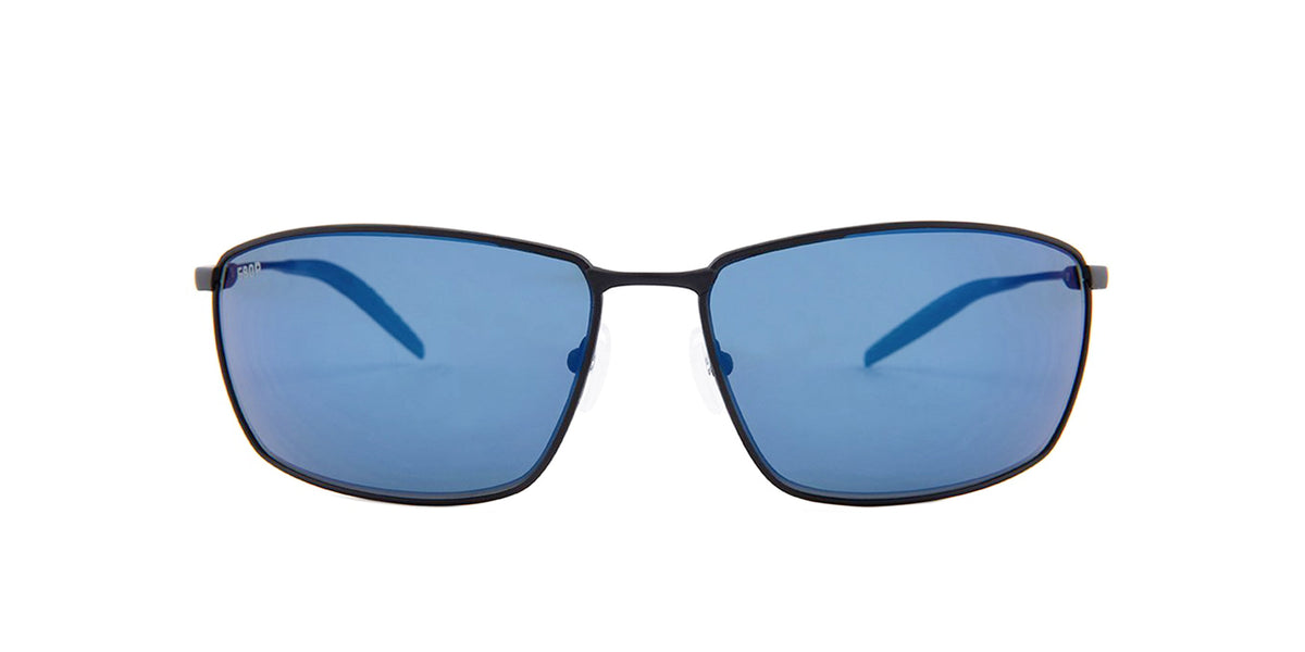Costa Del Mar - Turret Black/Blue Mirror Polarized Rectangular Men Sunglasses - 61.3mm