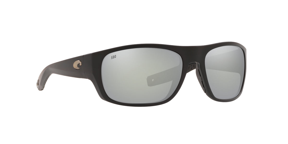 Costa Del Mar - Tico  Matte Black/Gray Rectangular Men Sunglasses - 60mm