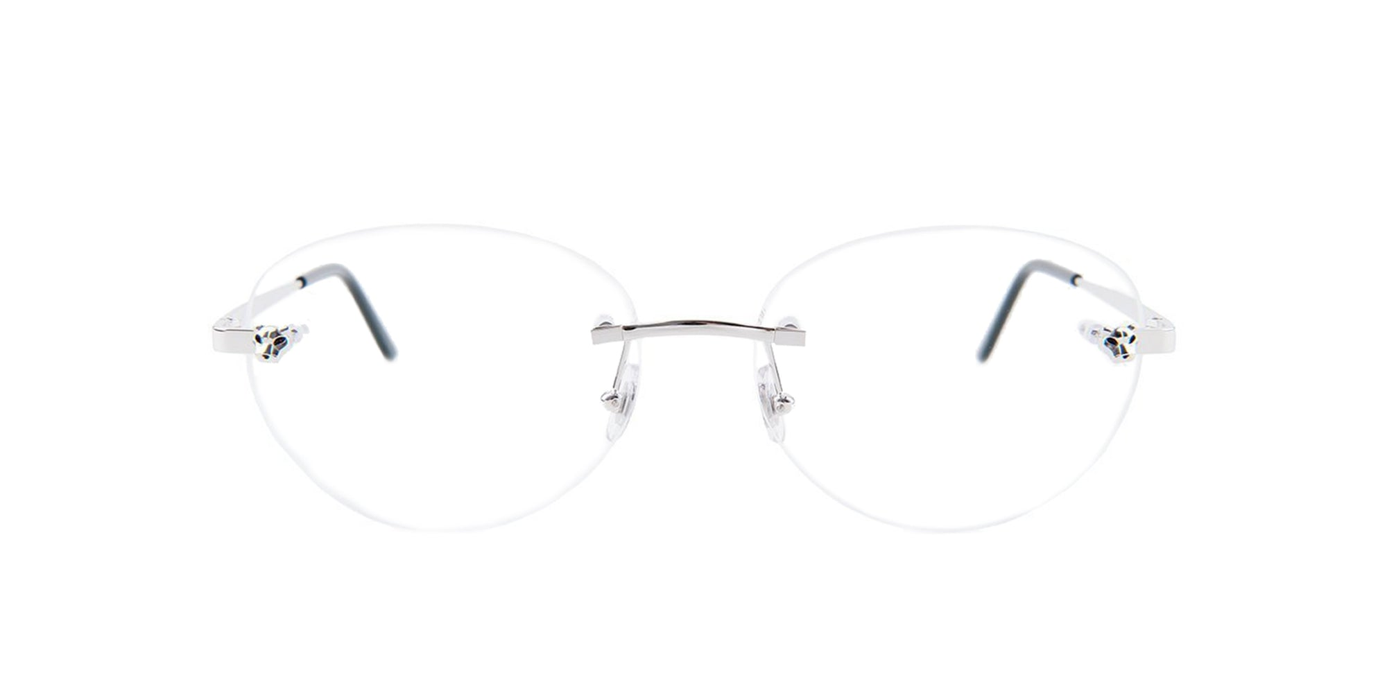 Cartier - CT0028O Silver/Clear Rimless Women Eyeglasses - 56mm-Eyeglasses-Designer Eyes