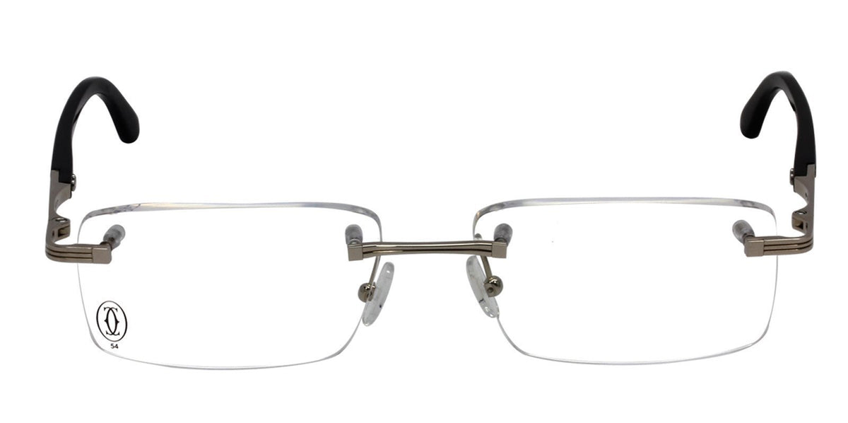 Cartier - T8120191 Silver Rimless Men Eyeglasses - 54mm-Eyeglasses-Designer Eyes