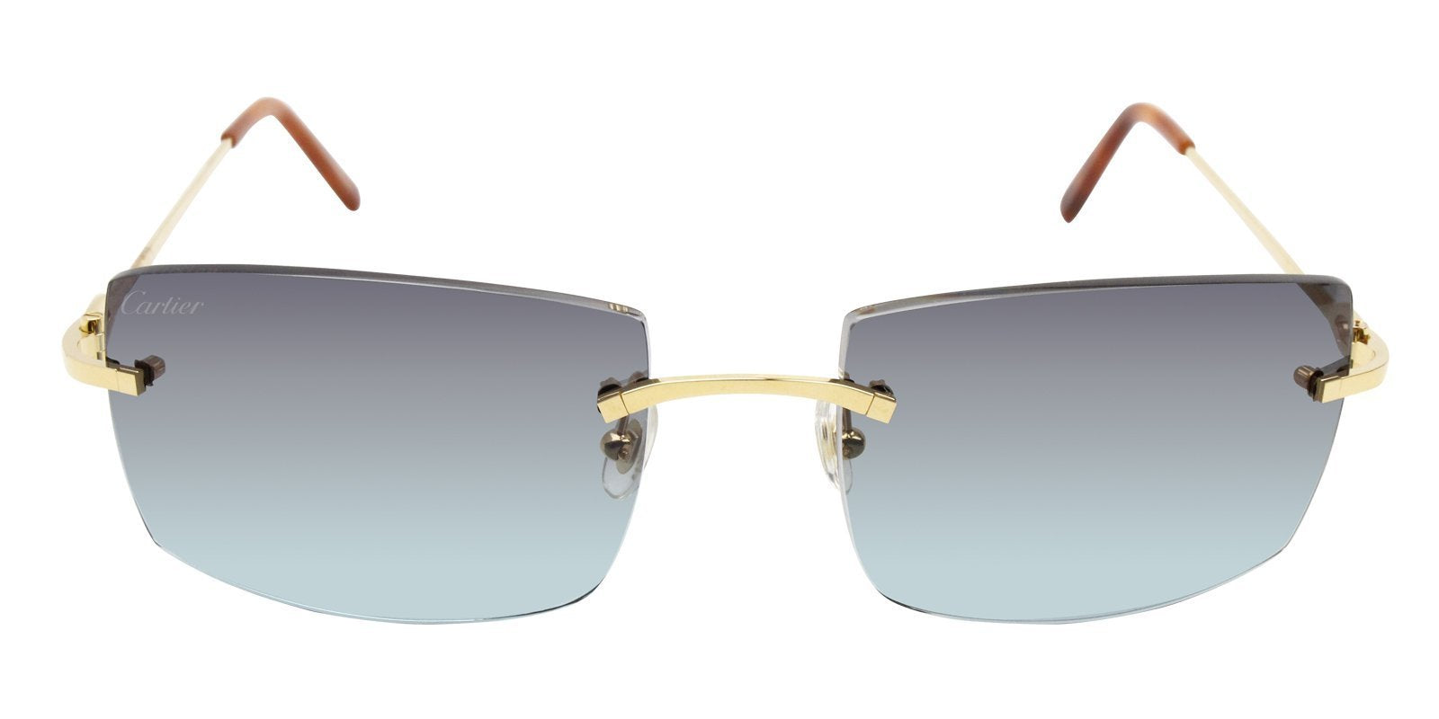 Cartier - C Decor Gold Rimless Unisex Sunglasses - mm-Sunglasses-Designer Eyes