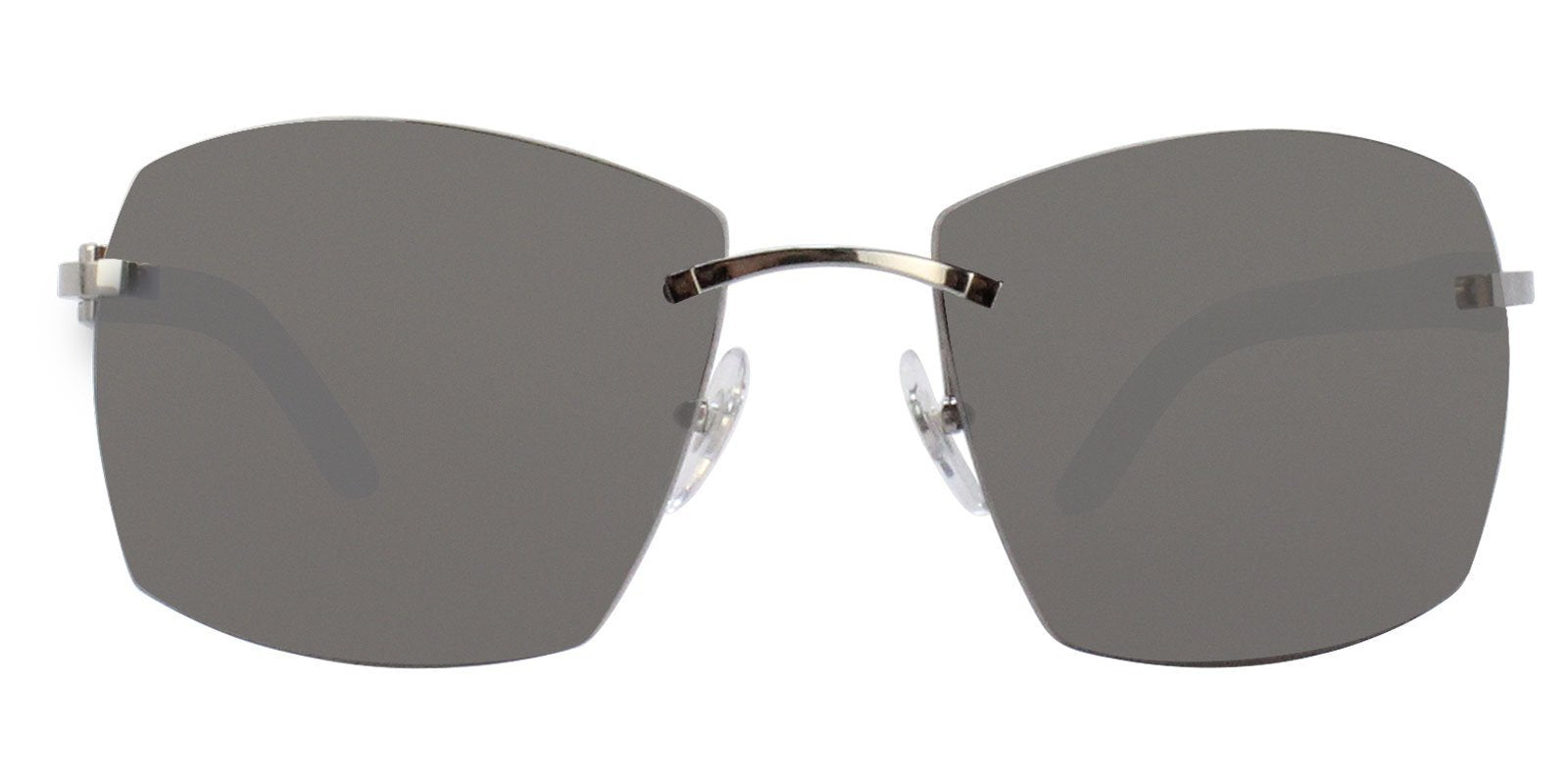 Cartier - C Decor Gray Rimless Men Sunglasses - 60mm-Sunglasses-Designer Eyes