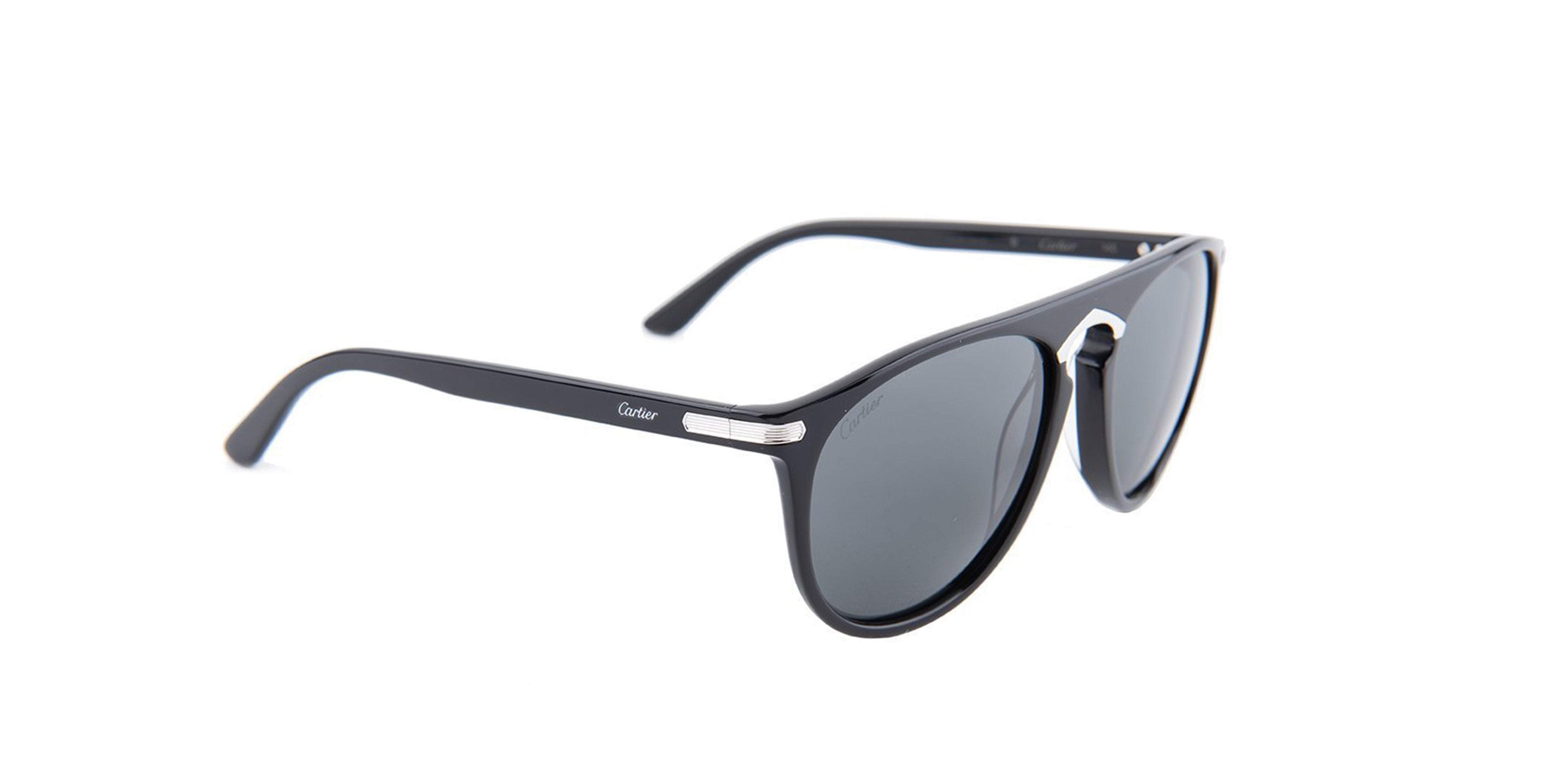 Cartier - CT0013S Shiny Black Women Sunglasses - 56mm-Sunglasses-Designer Eyes