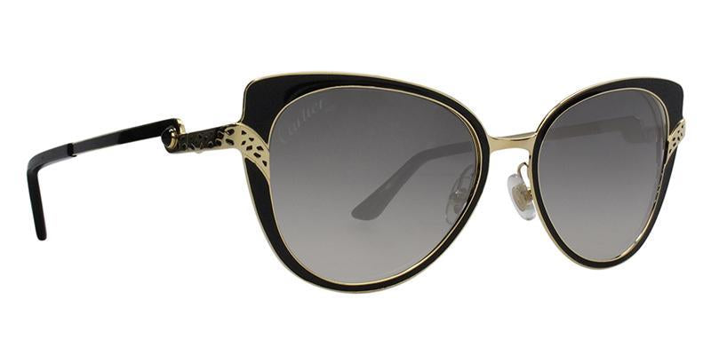Cartier - Panthere Divine Black Butterfly Women Sunglasses - 51mm-Sunglasses-Designer Eyes