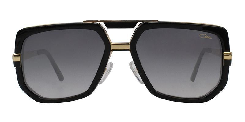 Cazal CZ662 Black Gold / Gray Lens Sunglasses-Sunglasses-Designer Eyes