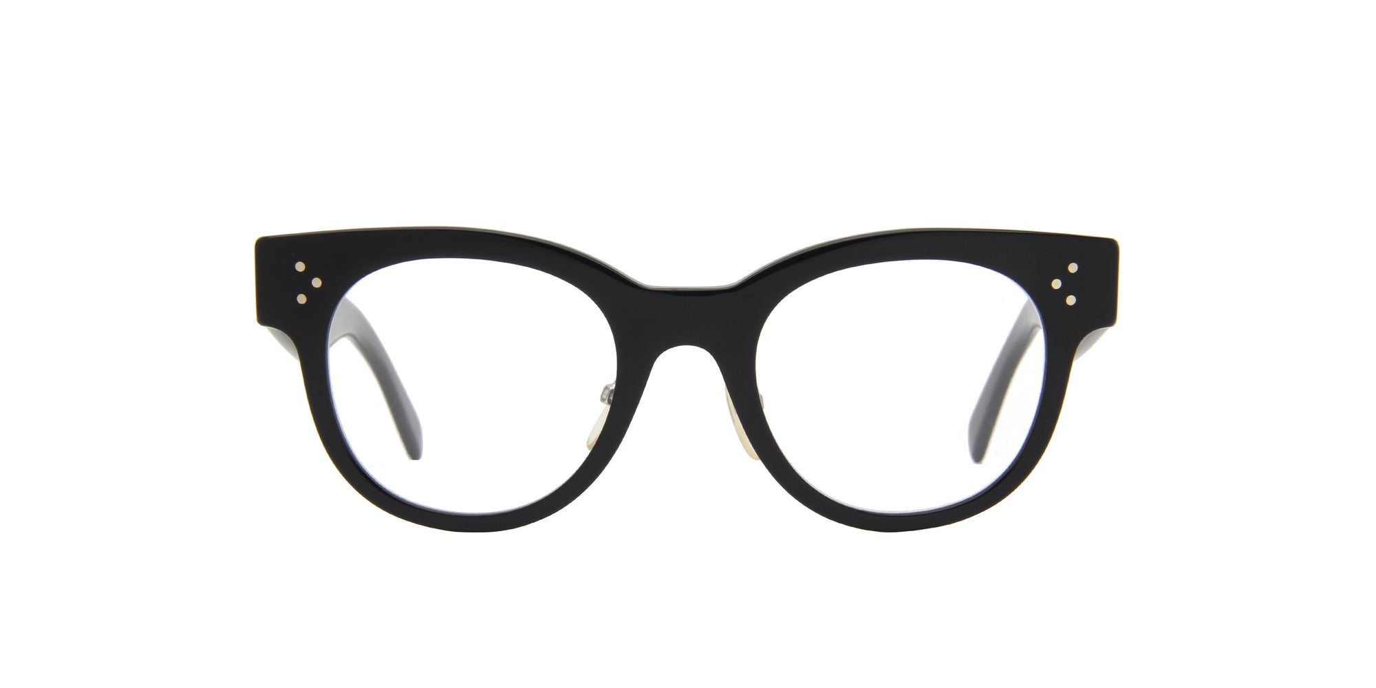 Celine - CL41427 Black Oval Women Eyeglasses - 48mm-Eyeglasses-Designer Eyes