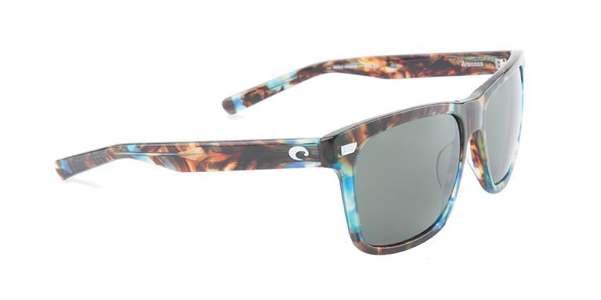 Costa Del Mar - Aransas Tortoise /Green Polarized Rectangular Unisex Sunglasses-Sunglasses-Designer Eyes