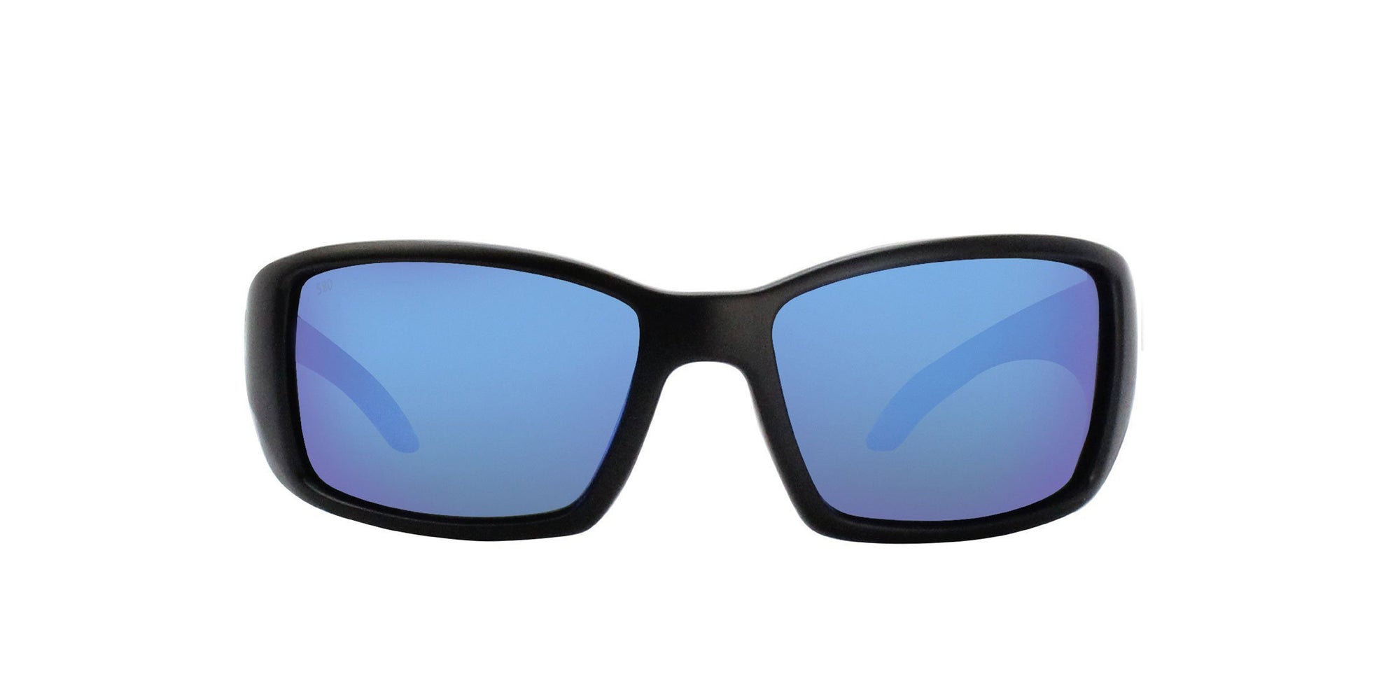Costa Del Mar - Blackfin Black/Blue Mirror Polarized Wrap Men Sunglasses - 61mm-Sunglasses-Designer Eyes