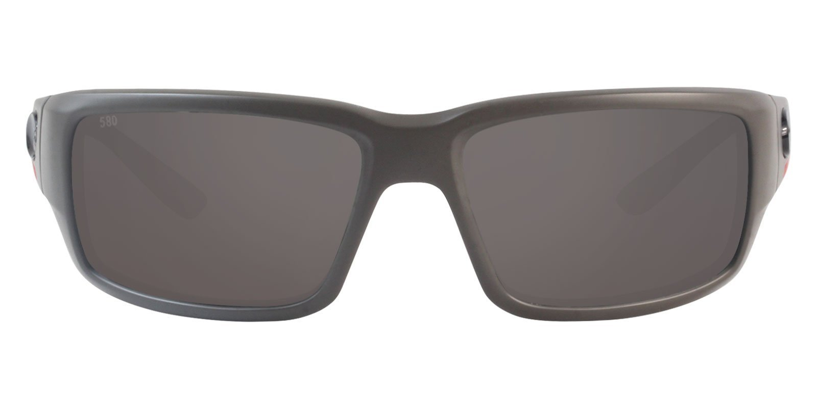 Costa Del Mar - Fantail Gray/Gray Mirror Polarized Wrap Men Sunglasses - 60mm-Sunglasses-Designer Eyes