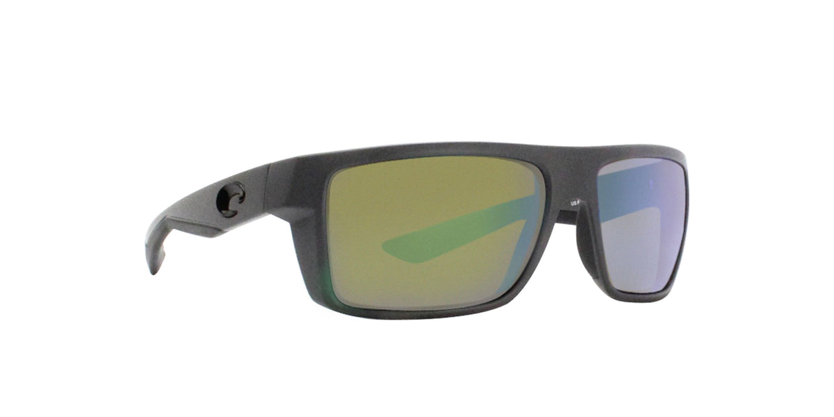 Costa Del Mar - Motu Gray/Green Mirror Polarized Rectangular Unisex Sunglasses-Sunglasses-Designer Eyes