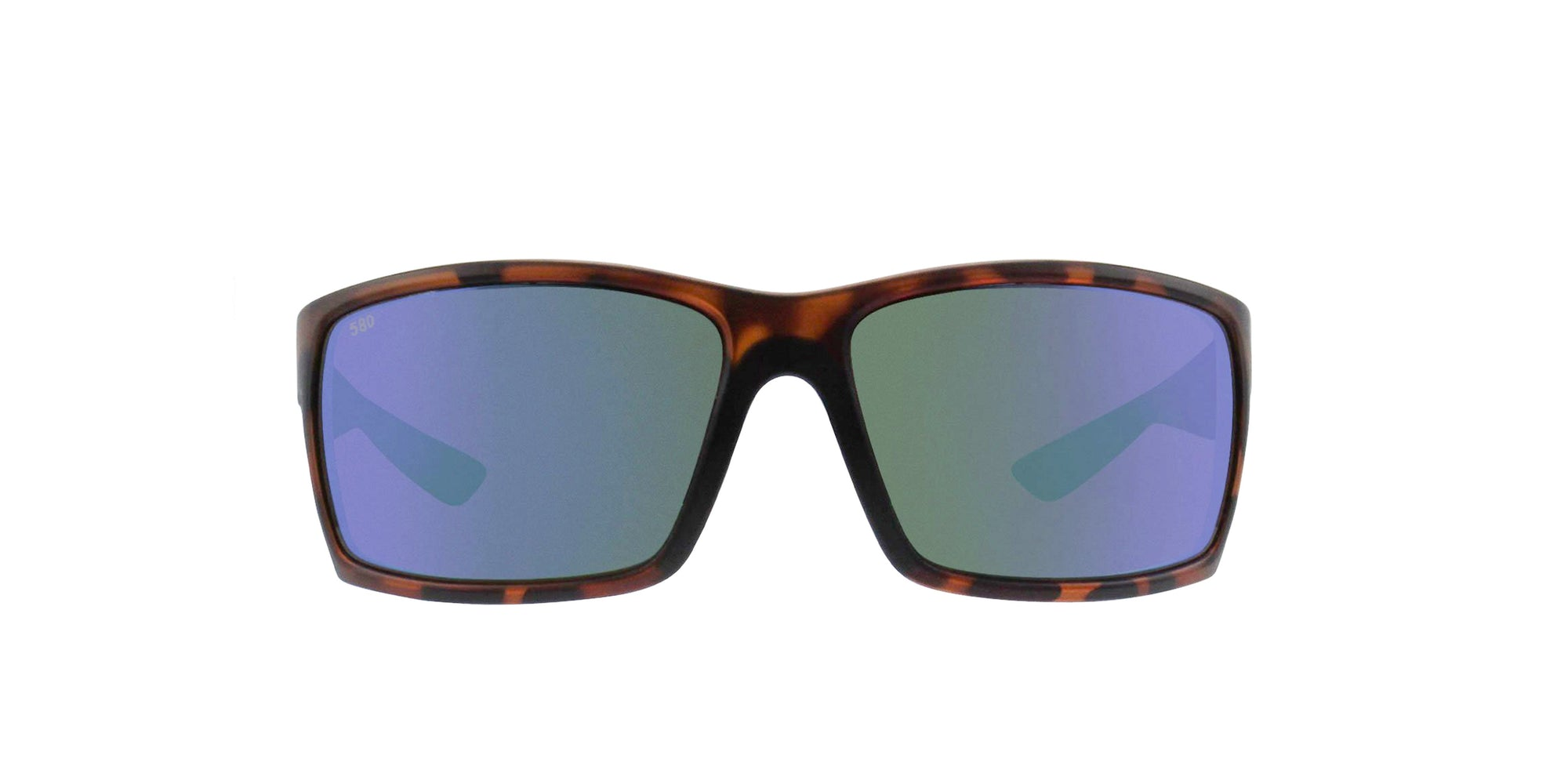 Costa Del Mar - Reefton Tortoise/Green Mirror Polarized Rectangular Men Sunglasses-Sunglasses-Designer Eyes