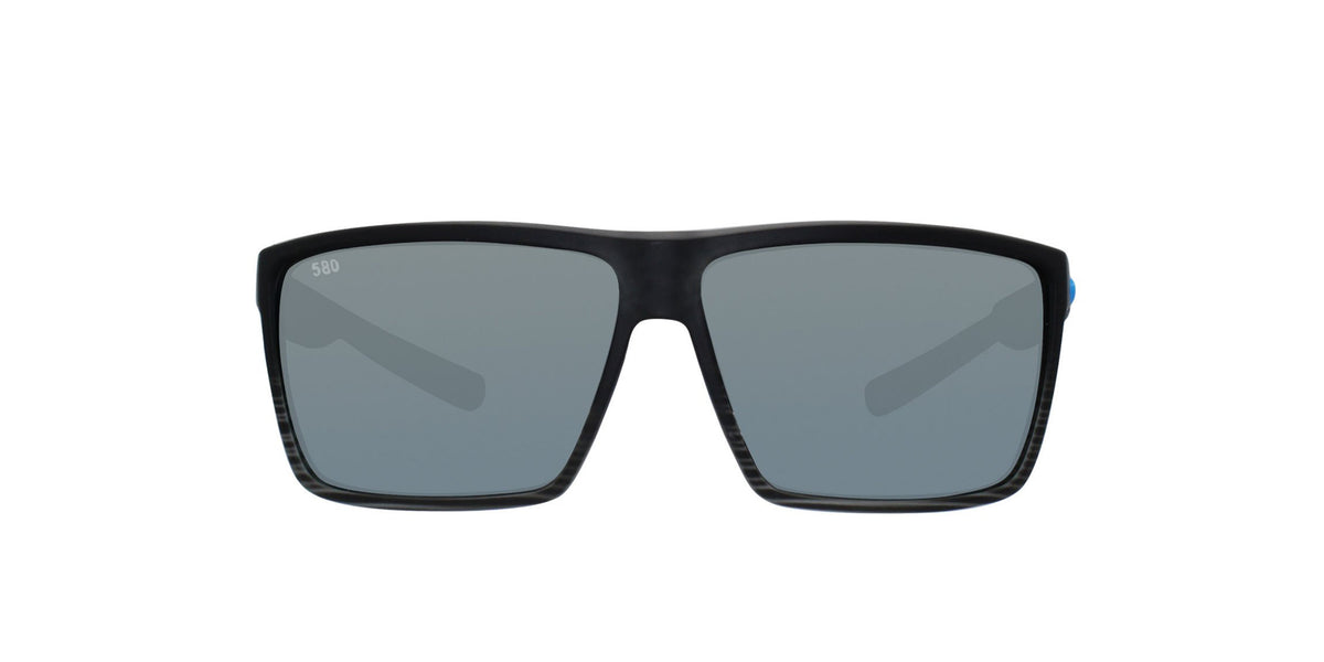 Costa Del Mar - Rincon Black/Gray Mirror Polarized Rectangular Men Sunglasses - 63.5mm-Sunglasses-Designer Eyes