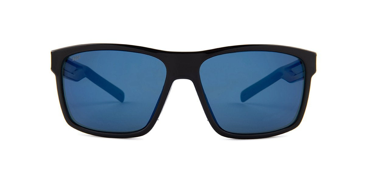 Costa Del Mar - Slack Tide Black/Blue Mirror Polarized Rectangular Unisex Sunglasses-Sunglasses-Designer Eyes
