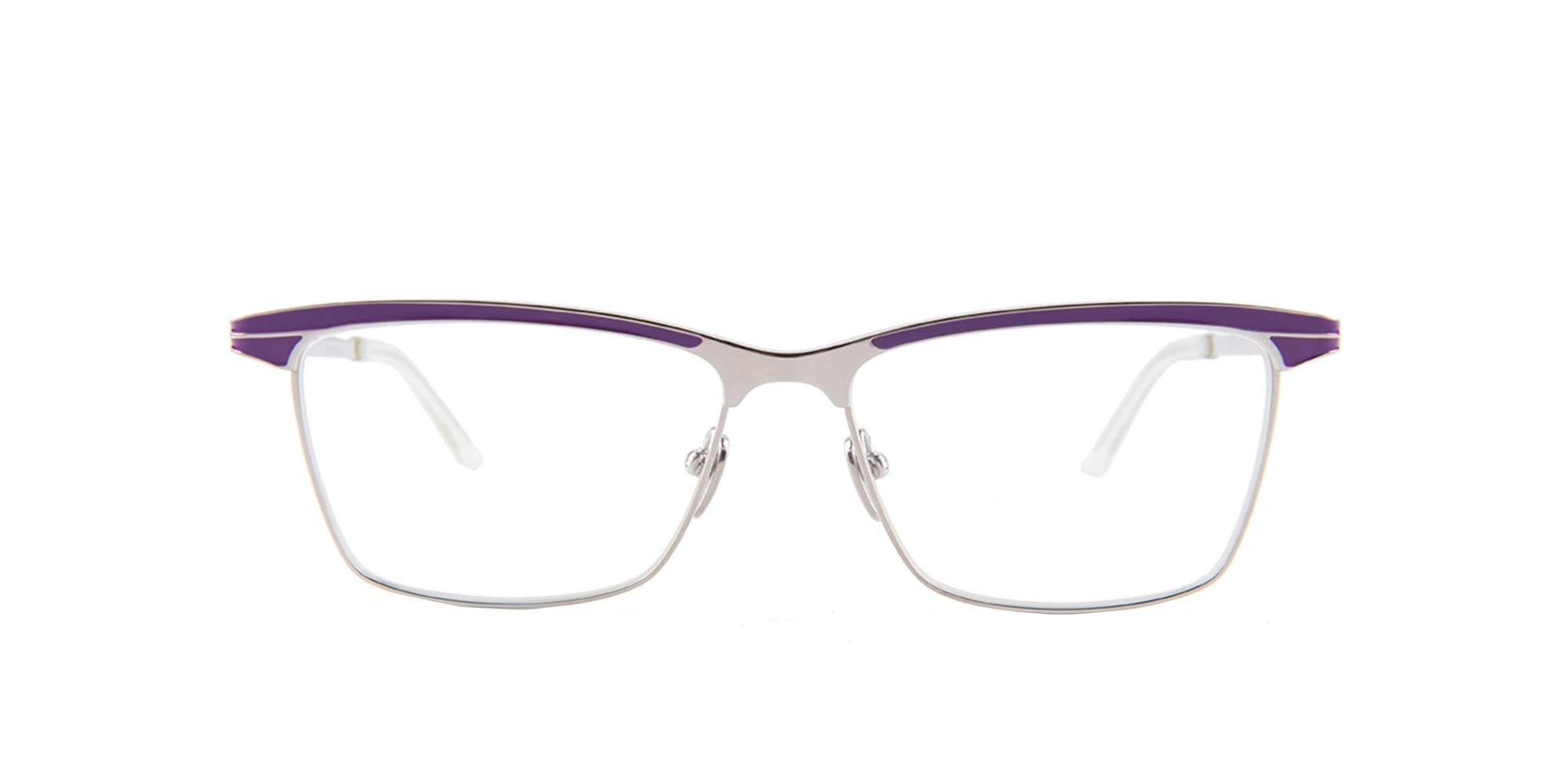 Dita - Corsair Purple Gold Square Women Eyeglasses - 55mm-Eyeglasses-Designer Eyes