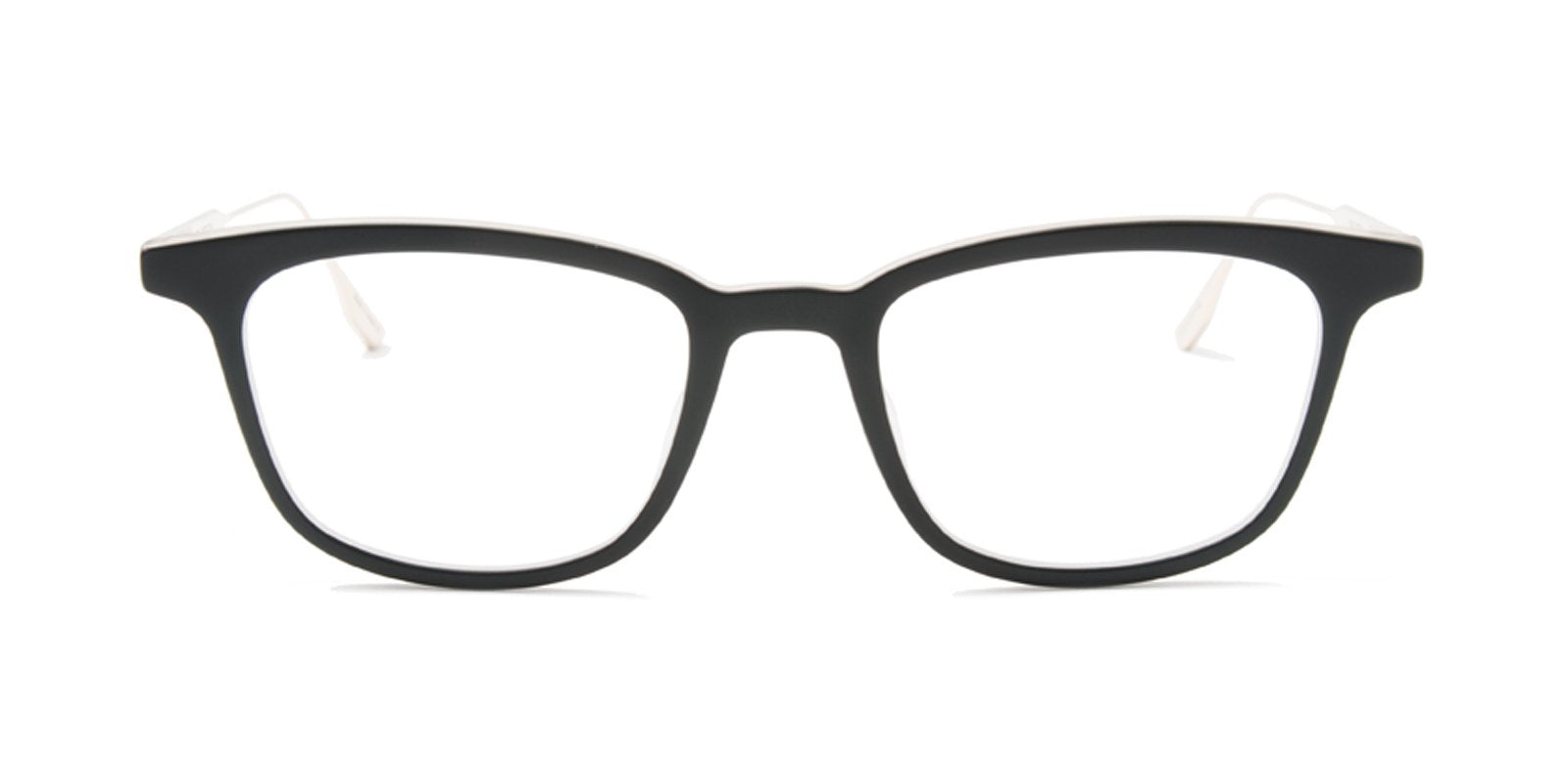 Dita - Floren Black Gold Rectangular Unisex Eyeglasses - 52mm-Eyeglasses-Designer Eyes