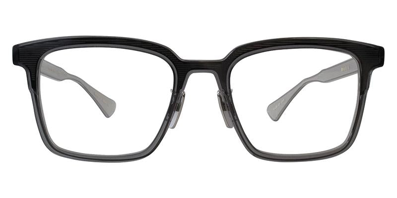 Dita - Polymath Crystal Grey - Crystal Clear Back Rectangular Men Eyeglasses - 51mm-Eyeglasses-Designer Eyes