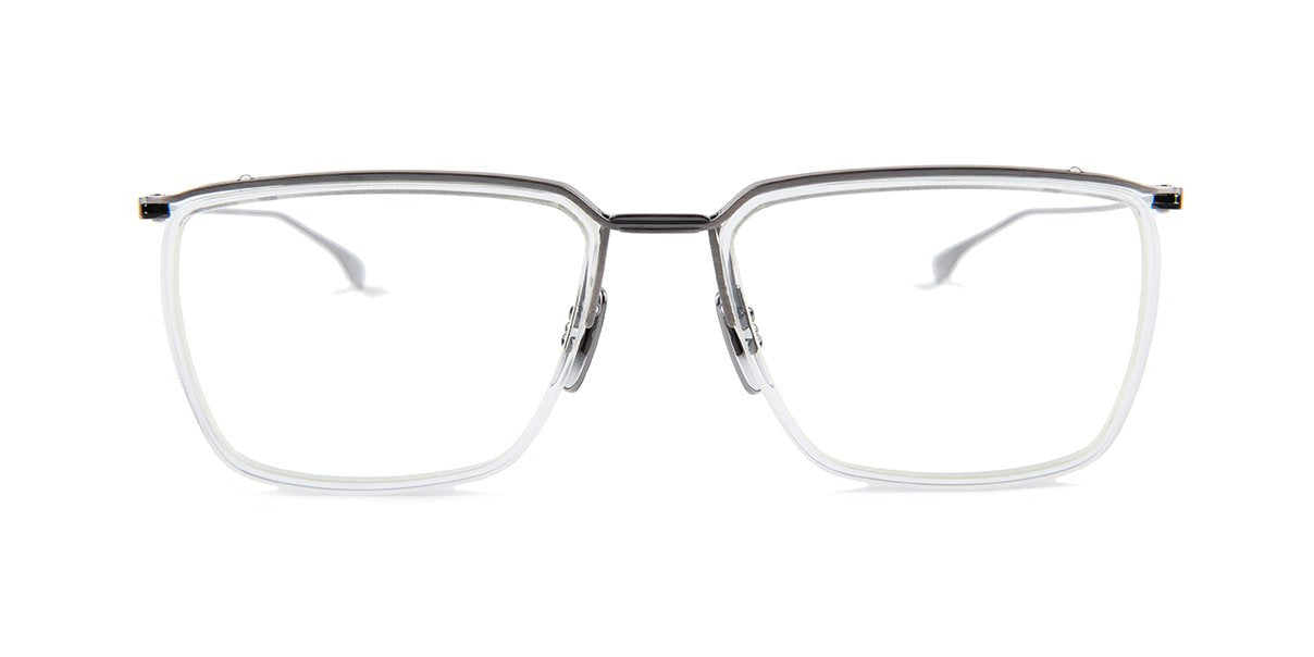 Dita - Schema-One Silver Rectangular Unisex Eyeglasses - 55mm-Eyeglasses-Designer Eyes