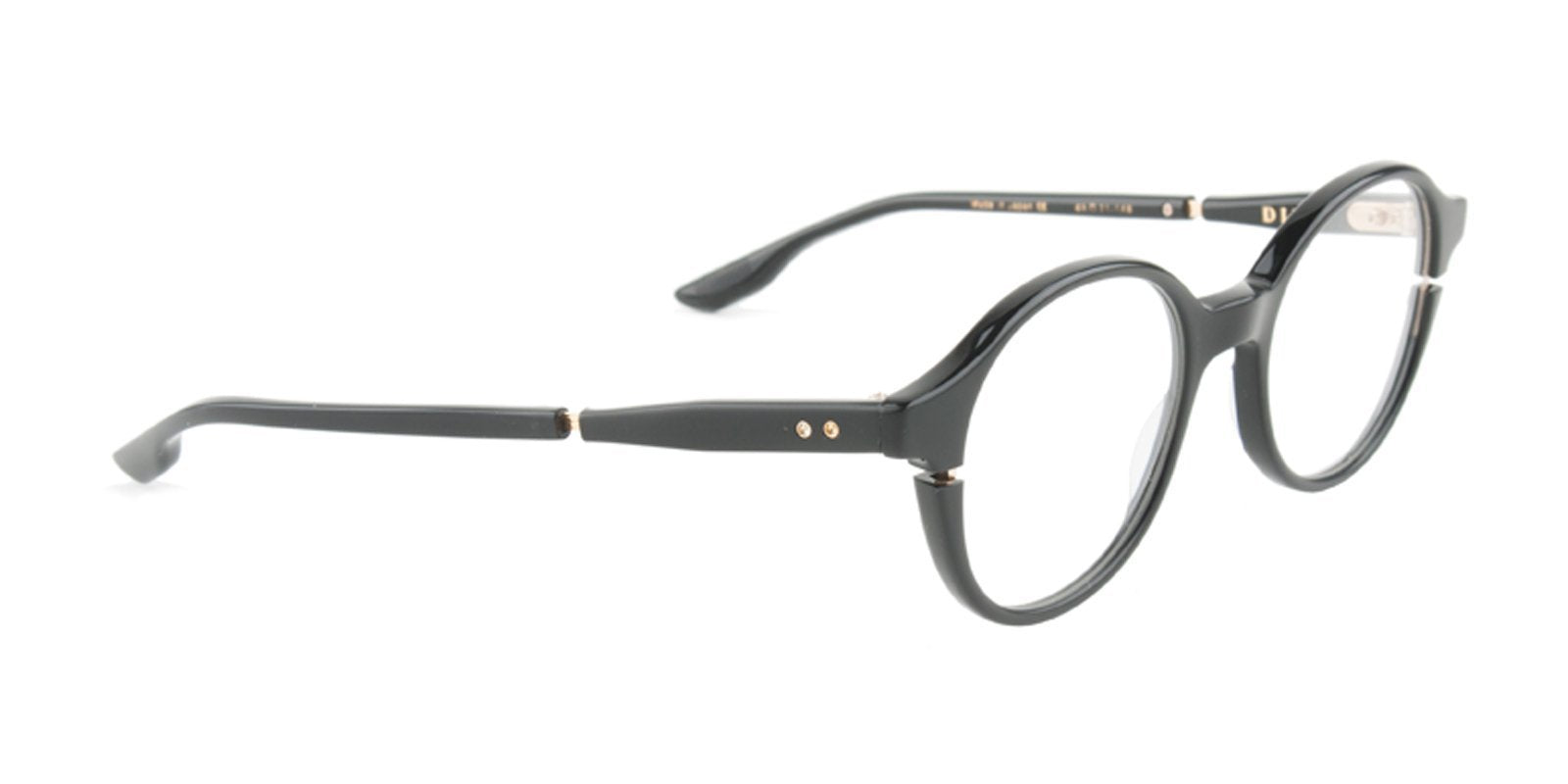 Dita - Siglo Black Oval Unisex Eyeglasses - 48mm-Eyeglasses-Designer Eyes