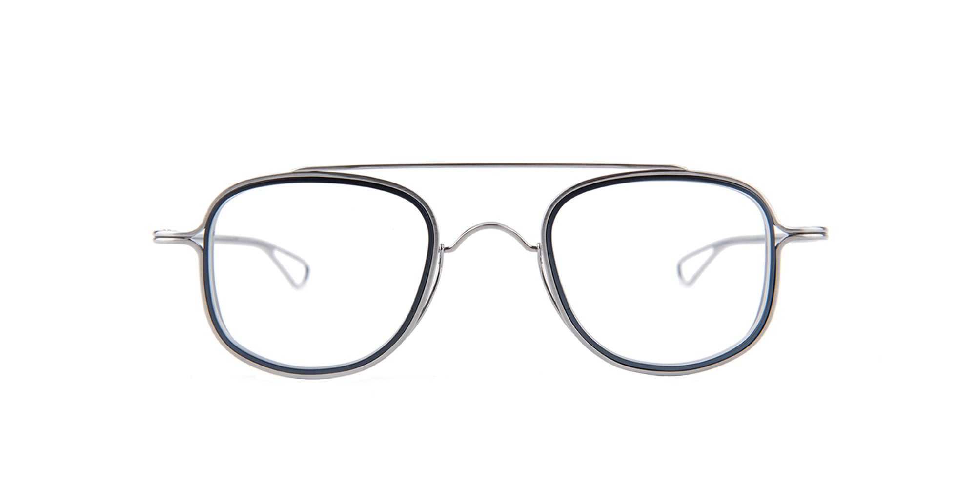 Dita - Tessel Silver Square Men Eyeglasses - 46mm-Eyeglasses-Designer Eyes