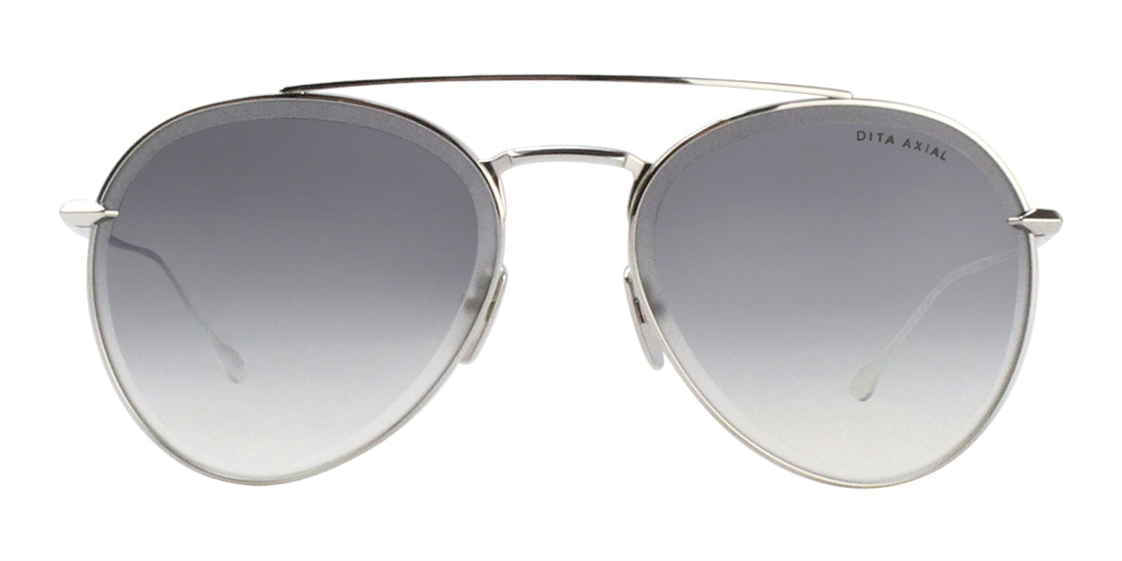 Dita - Axial Silver Aviator Women Sunglasses - 57mm-Sunglasses-Designer Eyes