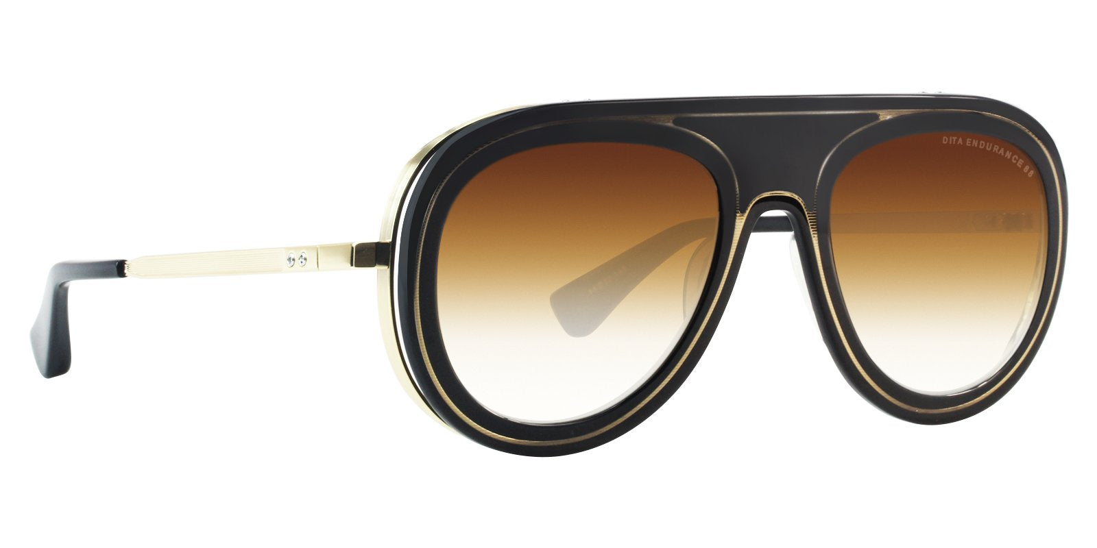 Dita - Endurance 88 Black Gold Aviator Unisex Sunglasses - 55mm-Sunglasses-Designer Eyes
