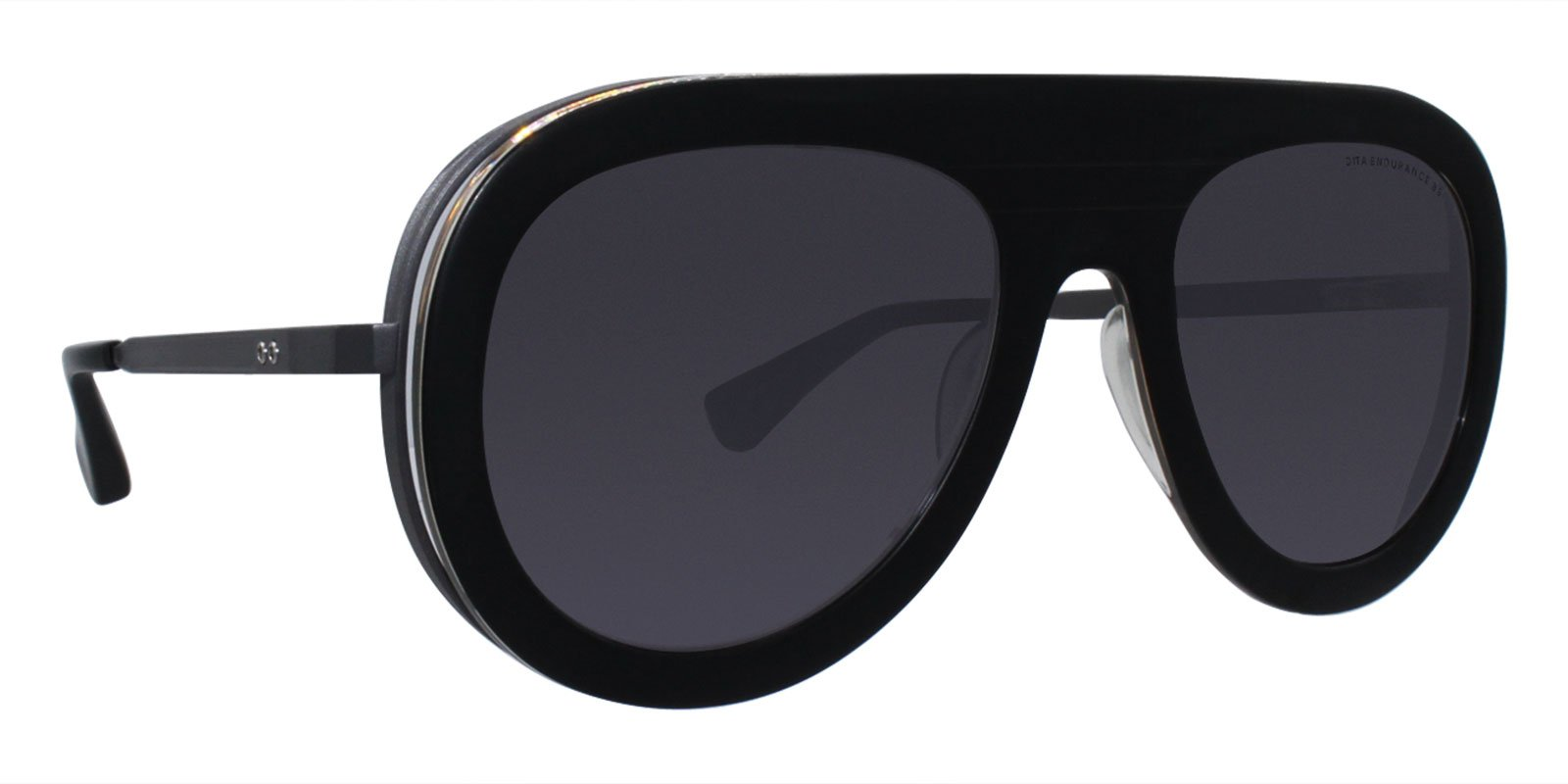 Dita - Endurance 88 Black Oval Unisex Sunglasses - 55mm-Sunglasses-Designer Eyes