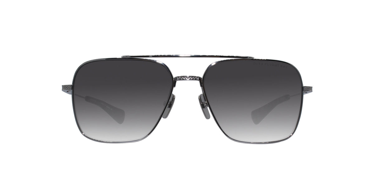 Dita - Flight-Seven Silver Aviator Unisex Sunglasses - 57mm-Sunglasses-Designer Eyes