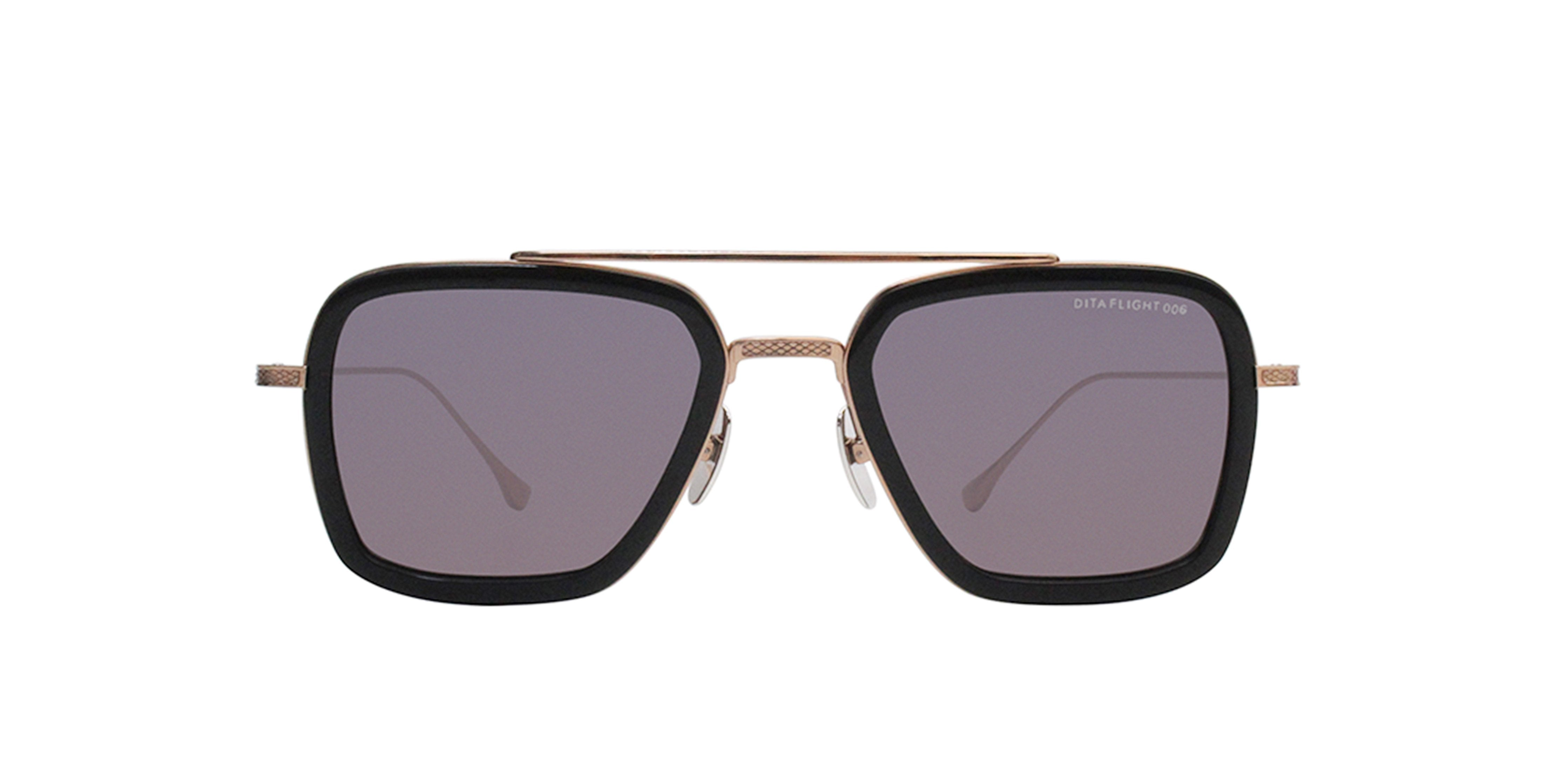 Dita - Flight.006 Black Rose Gold Aviator Men Sunglasses - 52mm-Sunglasses-Designer Eyes