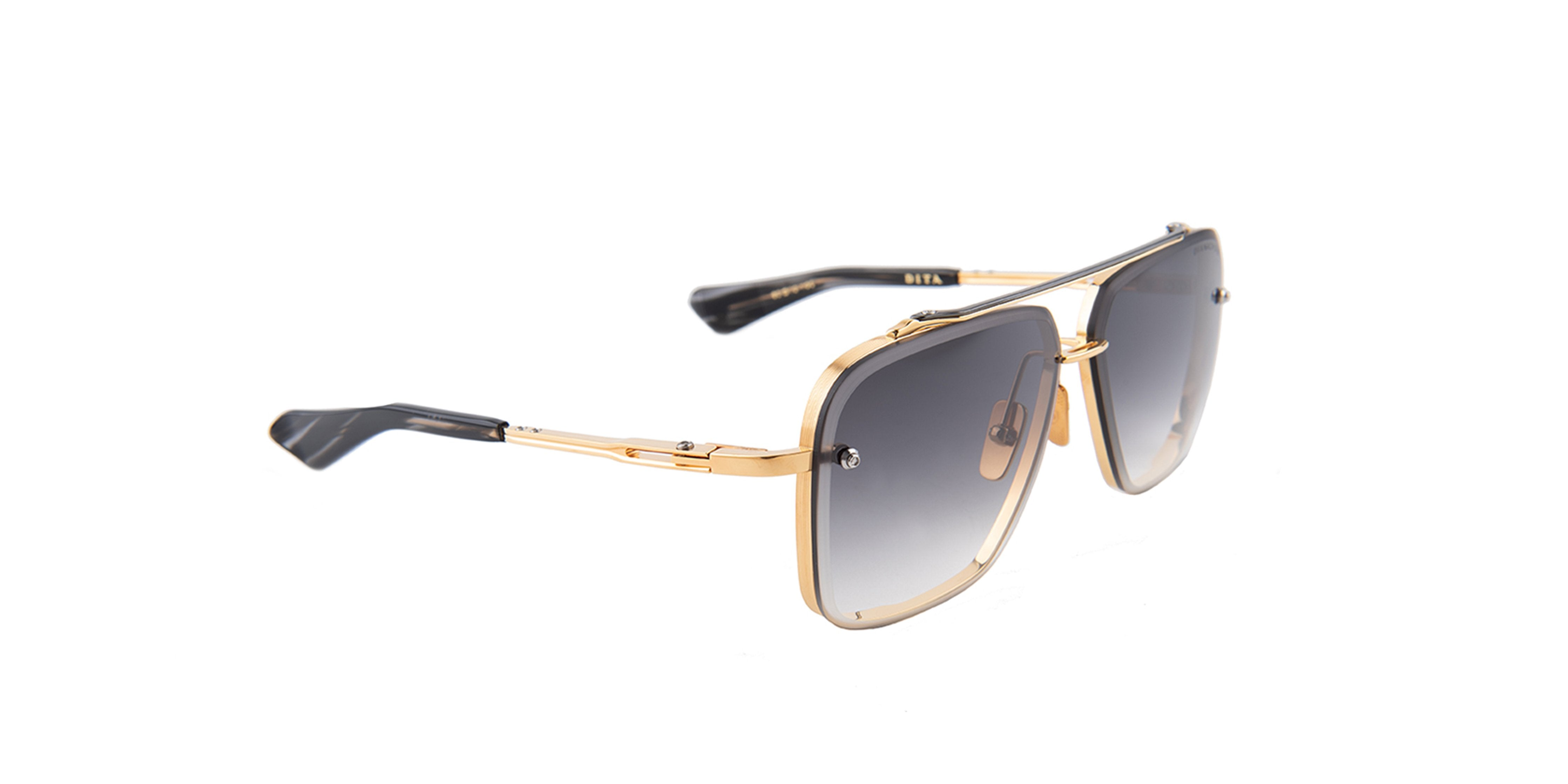 Dita - Mach-Six Gold Square Men Sunglasses - 62mm-Sunglasses-Designer Eyes