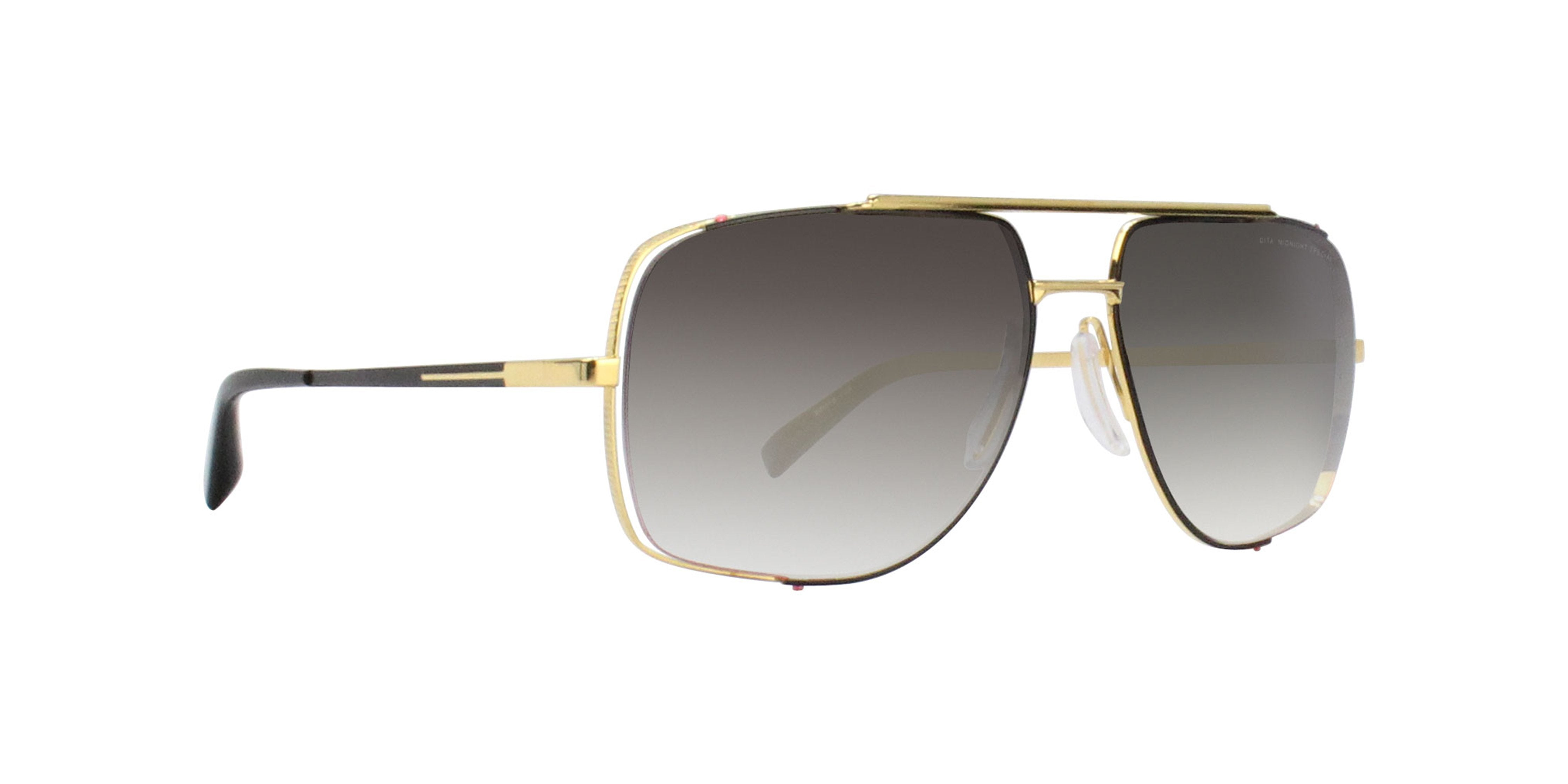 Dita - Midnight Gold Rectangular Men Sunglasses - 60mm