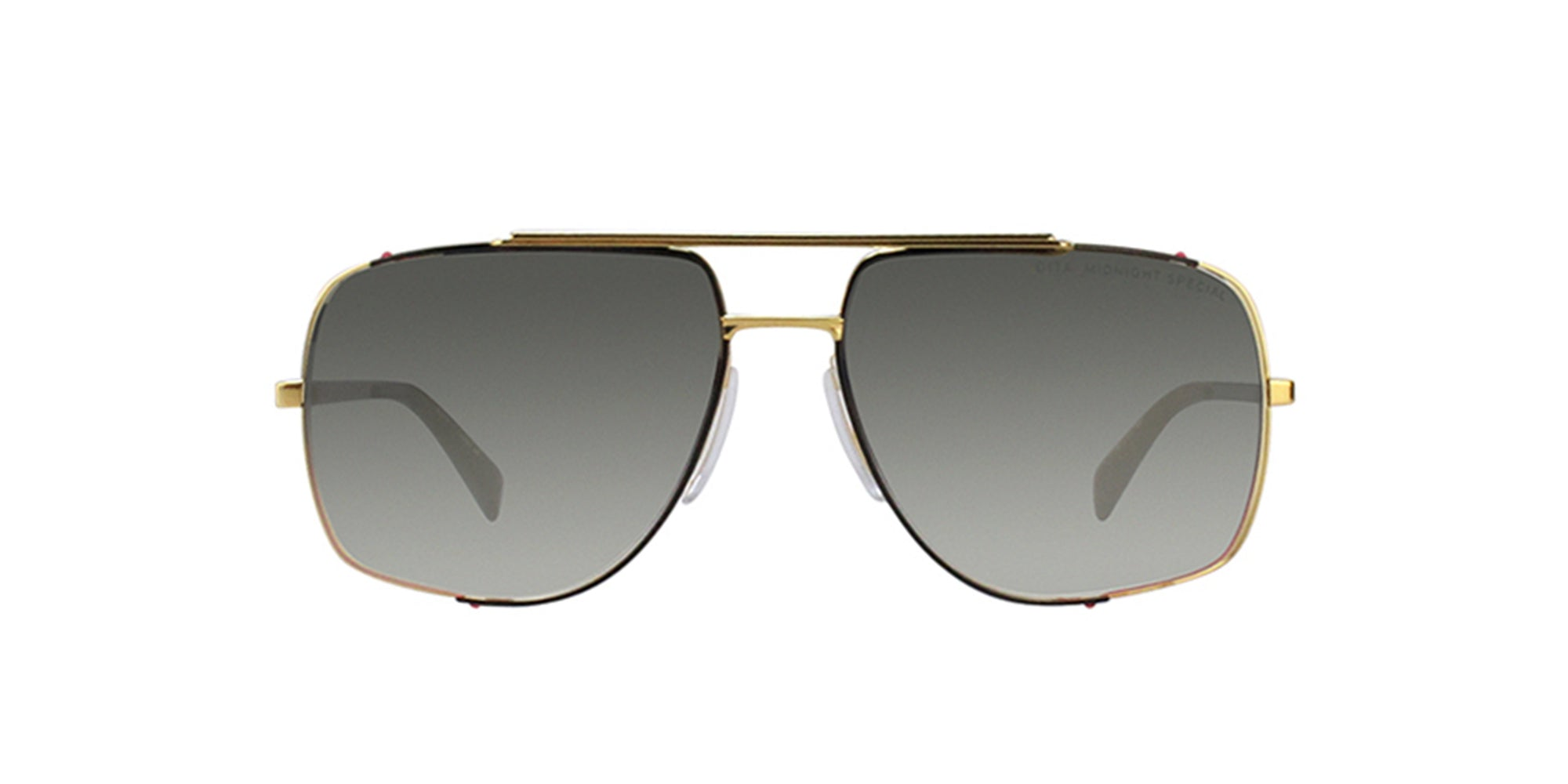Dita - Midnight Gold Rectangular Men Sunglasses - 60mm-Sunglasses-Designer Eyes