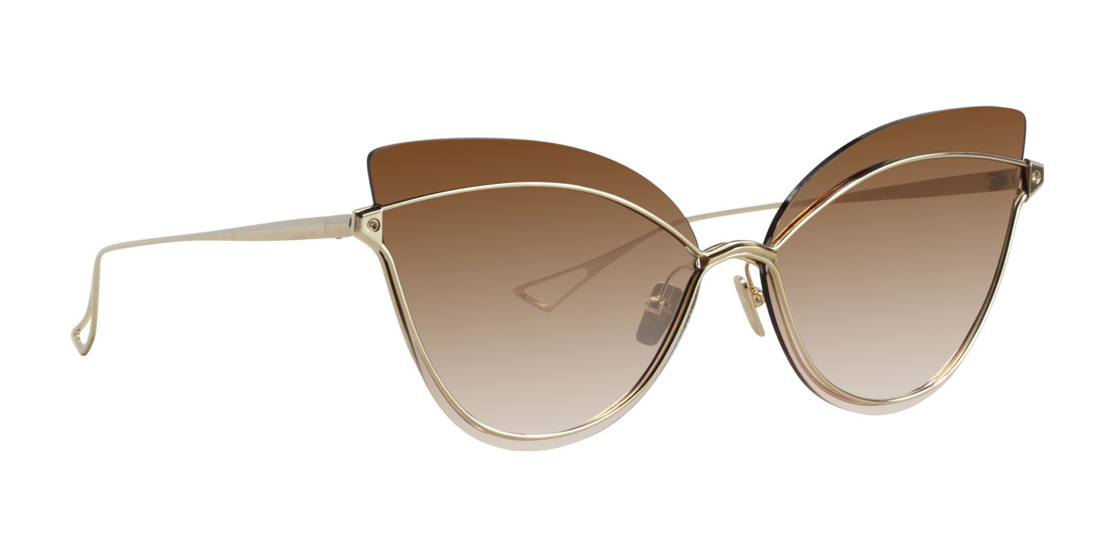 Dita - Nightbird-One White Gold Cat-Eye Women Sunglasses - 66mm-Sunglasses-Designer Eyes