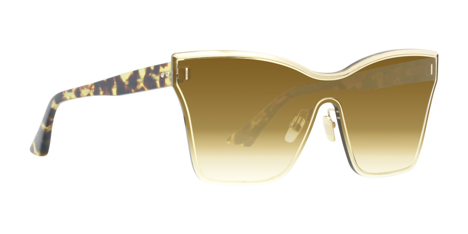 Dita - Silica Tortoise Gold Shield Women Sunglasses - 145mm-Sunglasses-Designer Eyes