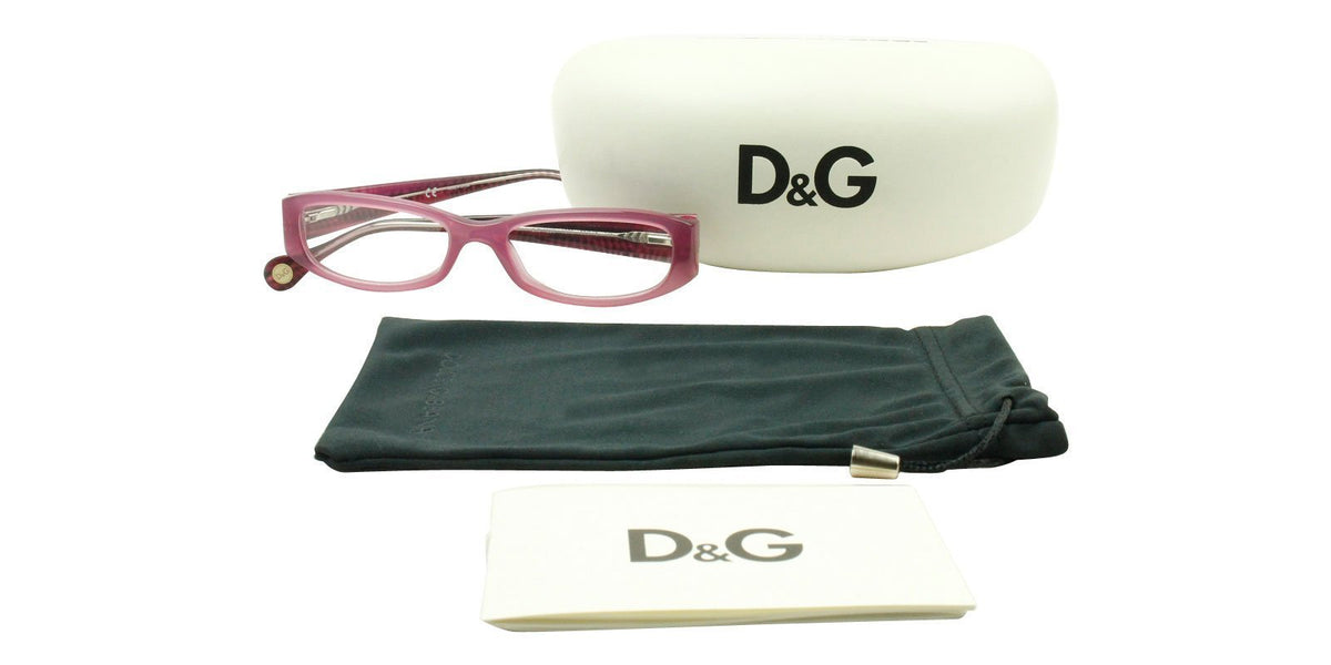 Dolce Gabbana - DG1220 Purple/Clear Rectangular Women Eyeglasses - 50mm-Eyeglasses-Designer Eyes