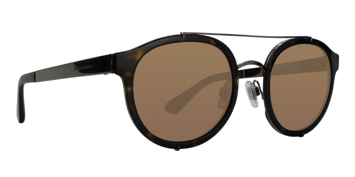Dolce Gabbana - DG2184 Tortoise/Brown Oval Unisex Sunglasses - 51mm-Sunglasses-Designer Eyes