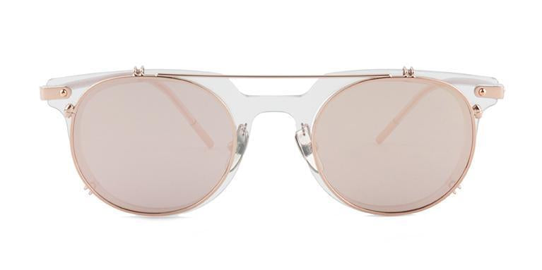 Dolce Gabbana - DG2196 Rose Gold/Rose gold Mirror Oval Women Sunglasses-Sunglasses-Designer Eyes