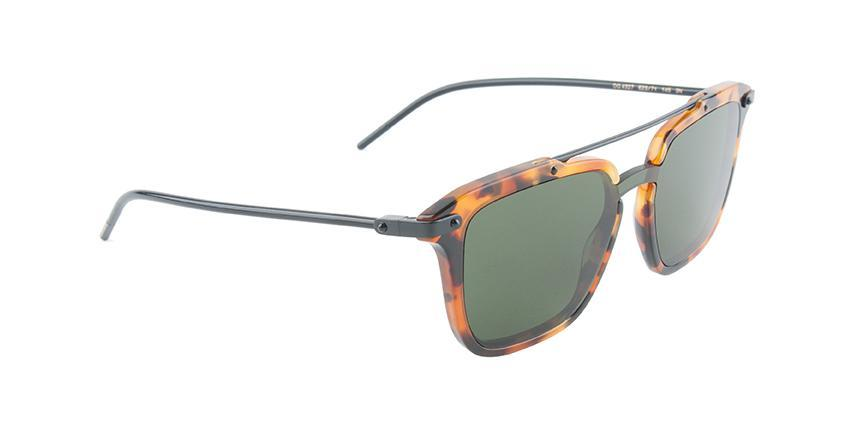 Dolce Gabbana - DG4327 Tortoise Black/Green Rectangular Unisex Sunglasses-Sunglasses-Designer Eyes