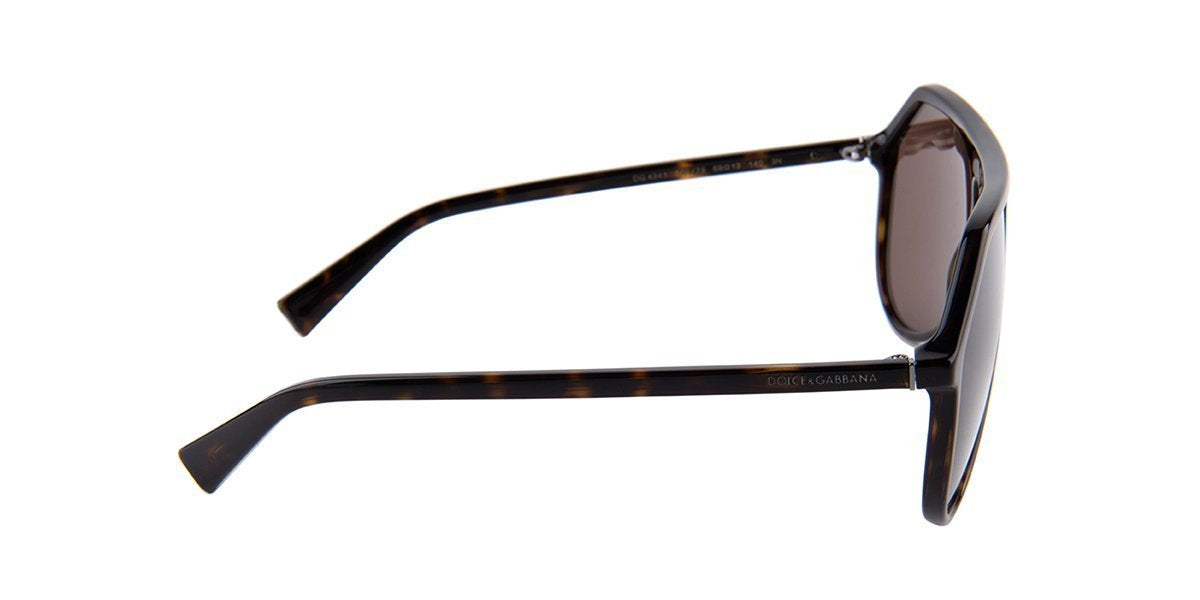 Dolce Gabbana - DG4341 Tortoise/Brown Aviator Women Sunglasses - 59mm-Sunglasses-Designer Eyes