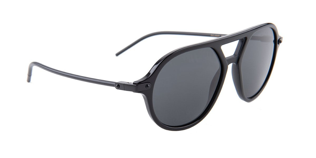 Dolce Gabbana - DG4343 Black/Black Square Unisex Sunglasses - 54mm-Sunglasses-Designer Eyes