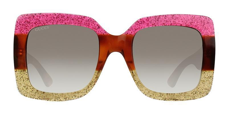 Gucci - GG0083S Pink Yellow Butterfly Women Sunglasses - 55mm-Sunglasses-Designer Eyes